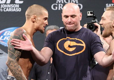 Dustin Poirier and Conor McGregor UFC 178