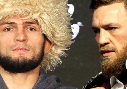 Khabib Nurmagomedov and Conor McGregor UFC 229