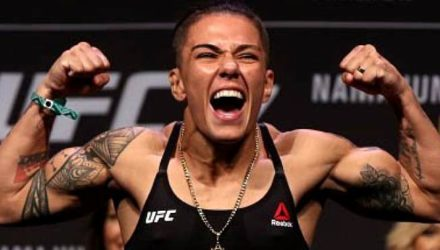 Jessica Andrade pumped at weigh-ins