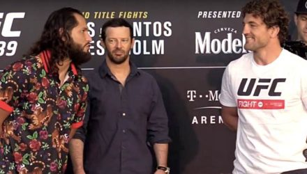 Jorge Masvidal and Ben Askren UFC 239 media day faceoff