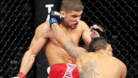 Jeremy Stephens kness Rafael dos Anjos at UFC 91