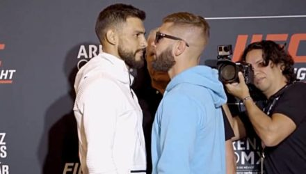 Yair Rodriguez vs Jeremy Stephens - UFC Mexic City staredown