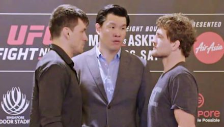 UFC Singapore Maia vs Askren face-off