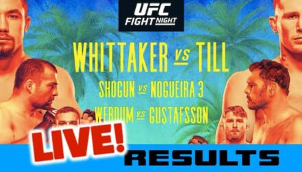 UFC Fight Island Whittaker vs Till live results