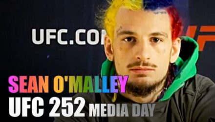 Sean O'Malley at UFC 252 Media Day