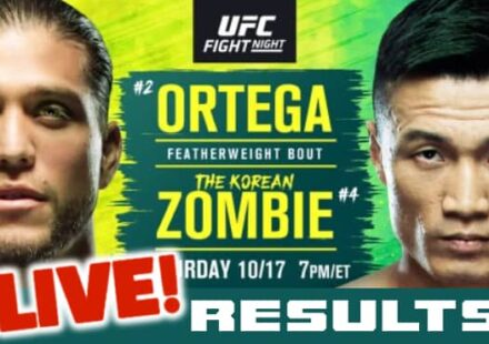 UFC Ortega vs Korean Zombie live results